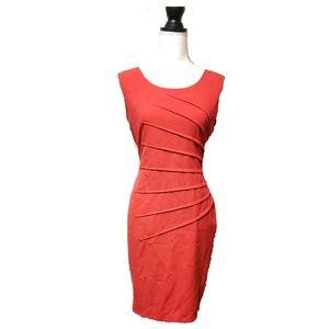 Calvin Klein Dress Women's Sz 10 Red Sleeveless
